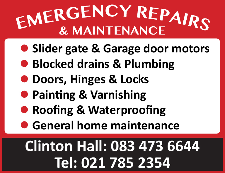 Emergency Repairs & Maintenance
