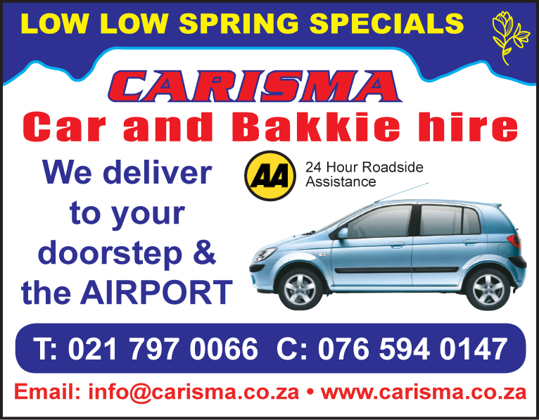 Carisma Car and Bakkie hire