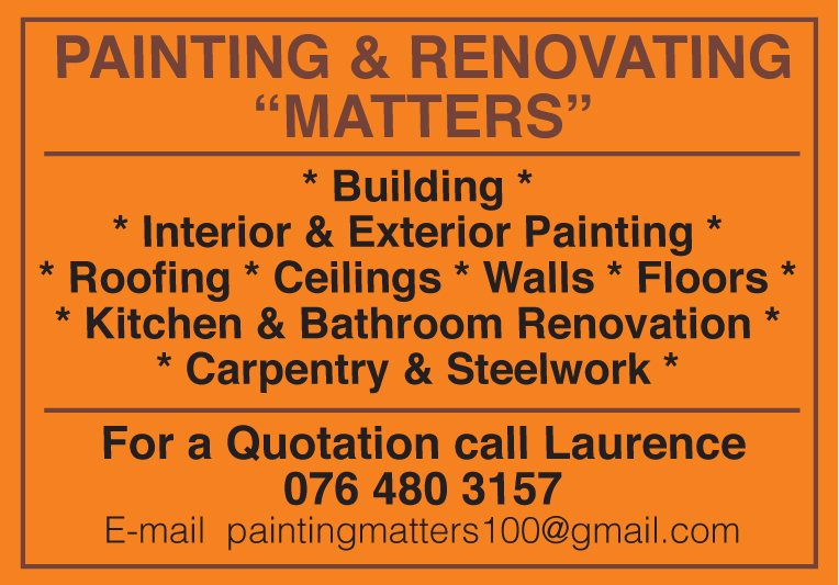 Painting and Renovating Matters